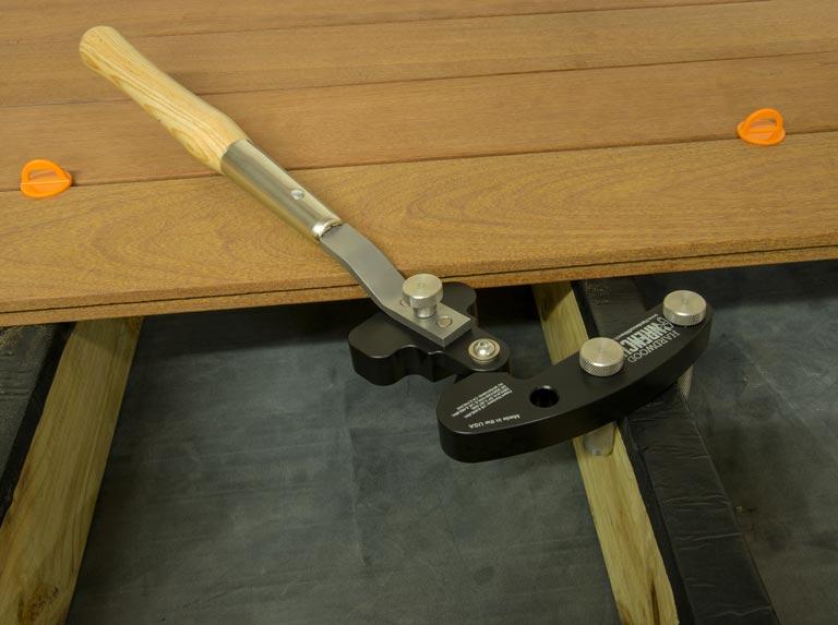 using hardwood wrench step 1