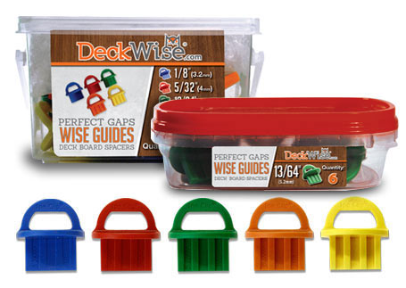 deckwise wiseguide deck board gap spacers