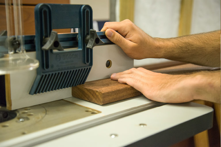 Using a router table - Step 2